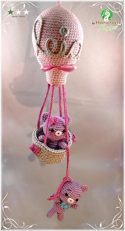 Tutoriel au crochet, amigurumi : La montgolfière des Oursons