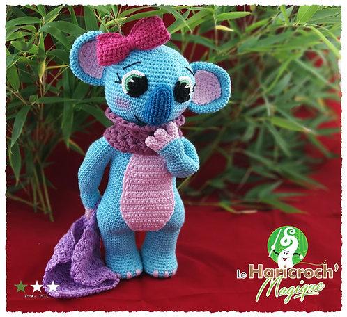 Tutoriel au crochet, amigurumi : Maya le Koala