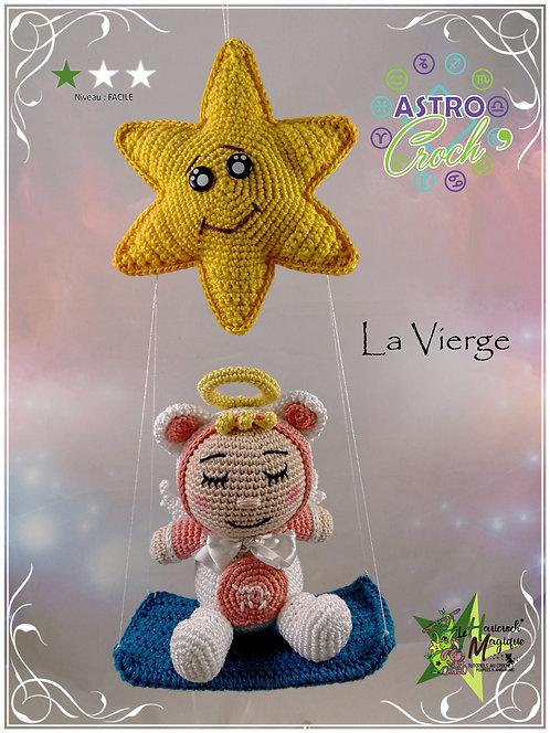 Tutoriel au crochet, amigurumi : l'astro croch' Vierge