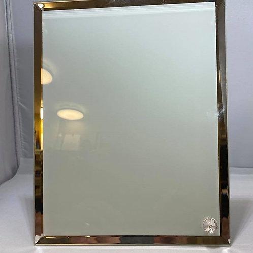 Cadre en verre contour miroire / Glass frame with mirror contour