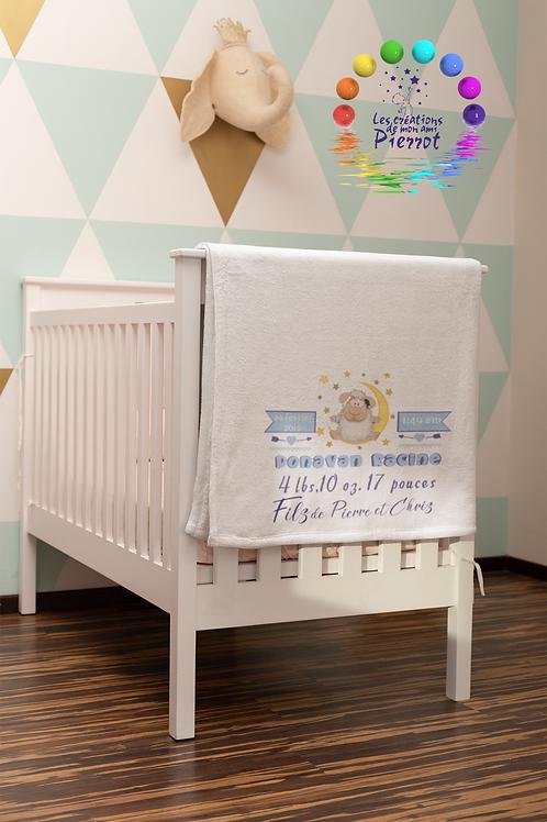 Couverture de bébé polaire de sublimation /Sublimation Fleece Baby Blanket