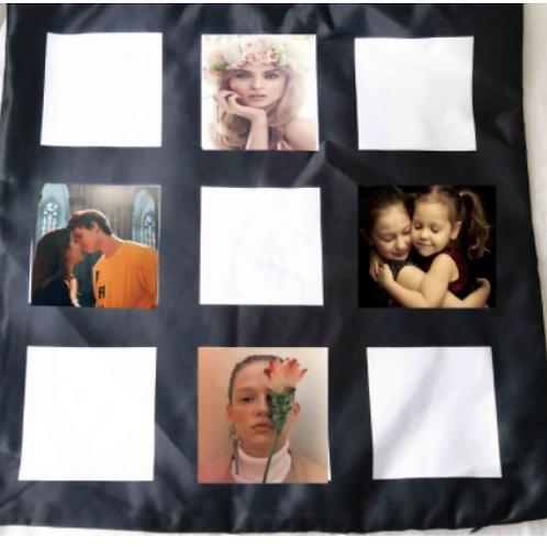 Coussin à 9 panneaux Sublimation / Sublimation 9 Panel Pillow Case