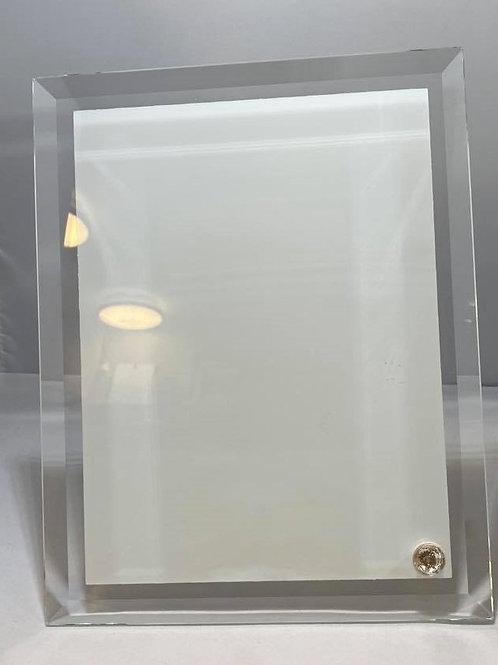 Cadre en verre contour claire / Glass fram with clear contour