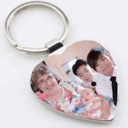 Porte-clés coeur pour sublimation / Heart sublimation key ring
