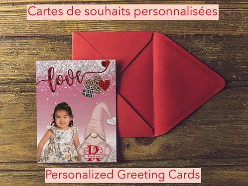 Cartes de souhaits Personnalisées/ Personalized Greeting Cards
