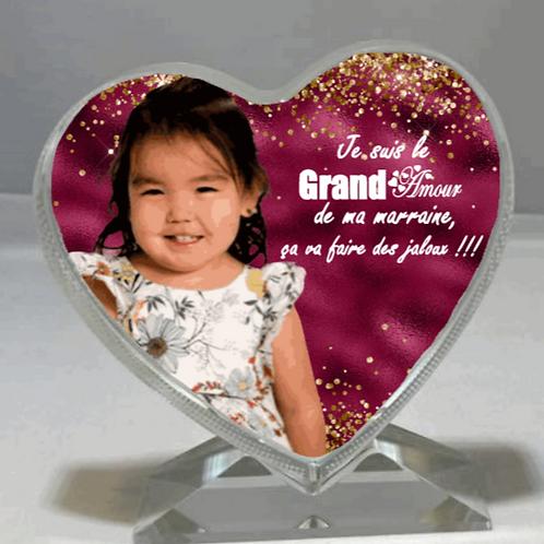 Cadre en verre Coeur / Glass Heart frame