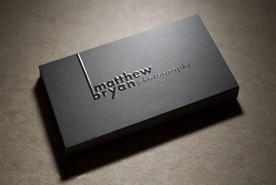 Standards Raised Print Business Card