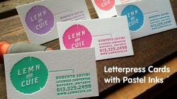 Luxury Letterpress Business Cards