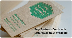 Pulp Letter Press Business Cards