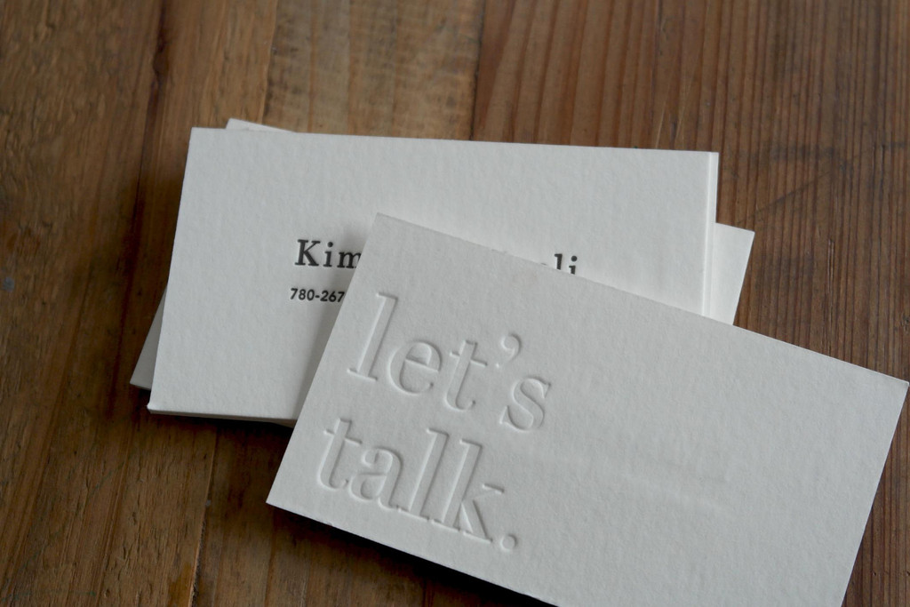 100% Cotton Business Cards