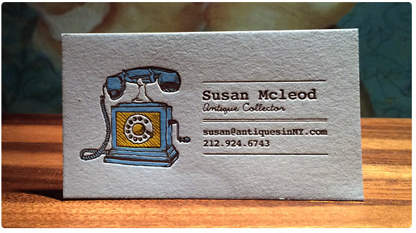 Luxury Letterpress Business Cards