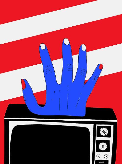 "Affichette A5 ""Television Crush"""