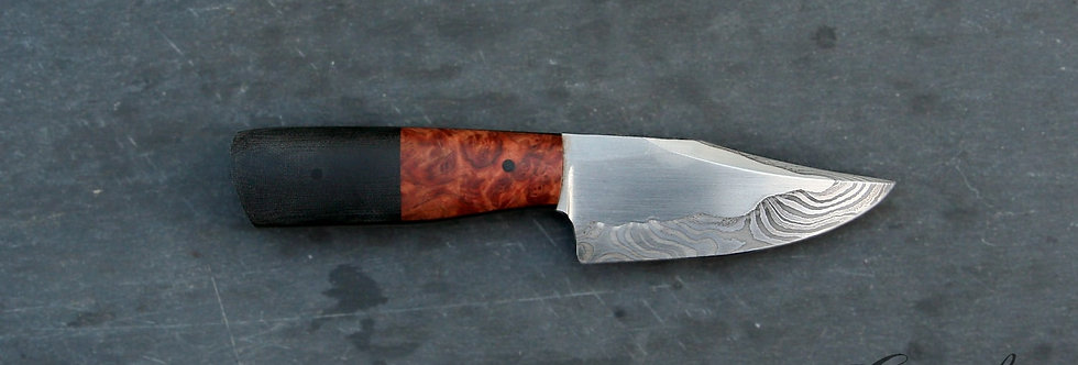 85mm Stainless San Mai Damascus Hunting Knife