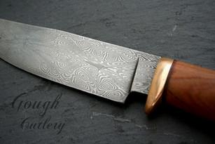 Mosaic Damascus Hunting Knife