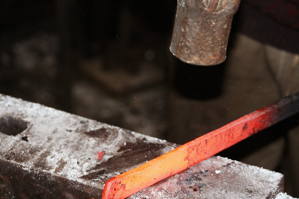 hand forging on an anvil