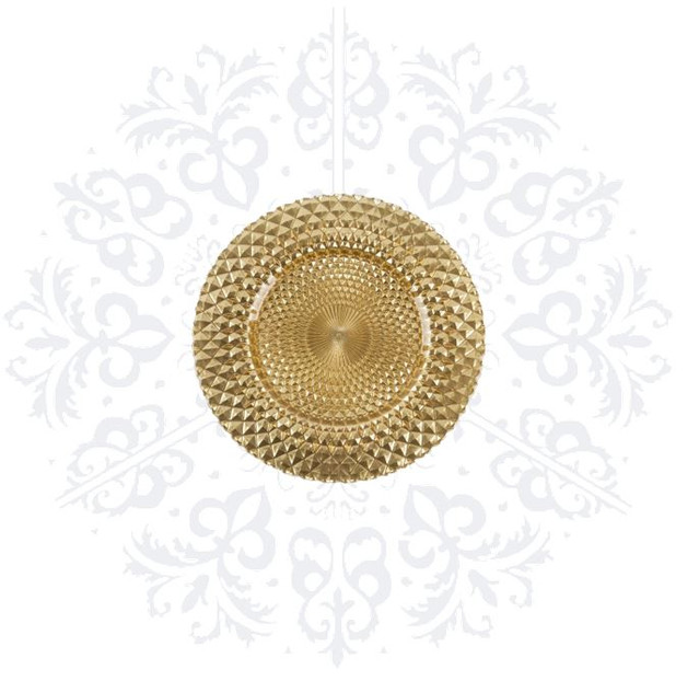 Gold Texture Charger Plate