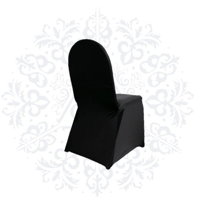 Black banquet and foldable chair spandex chair covers