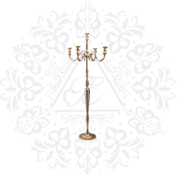 Gold 60in Candelabra Stand