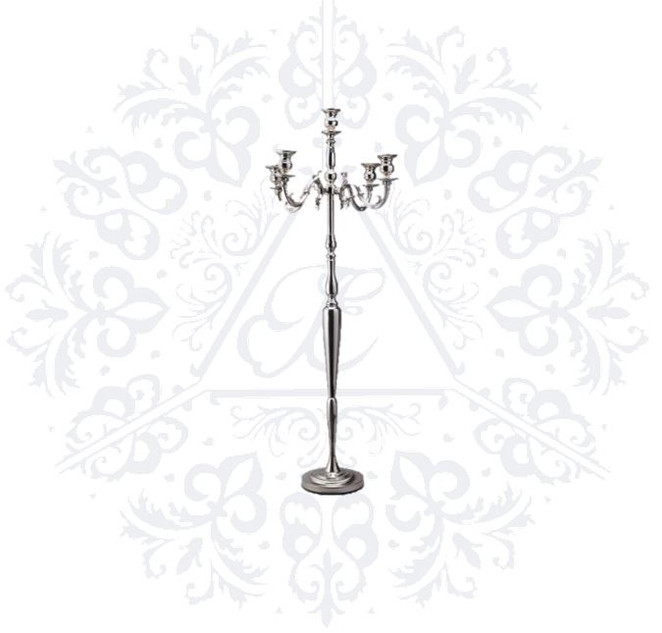 Silver 60in Candelabra Stand