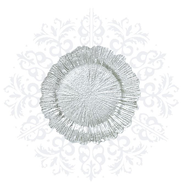 Silver Coral Charger Plate
