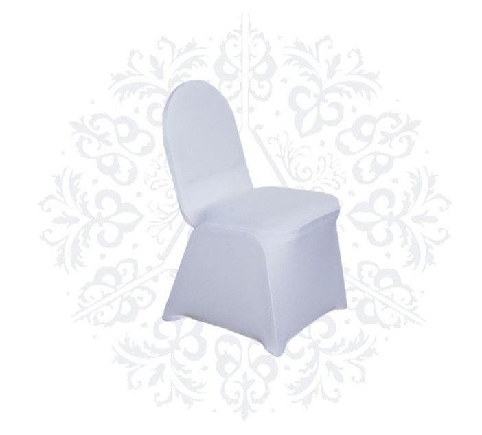 White banquet and foldable chair spandex chair covers