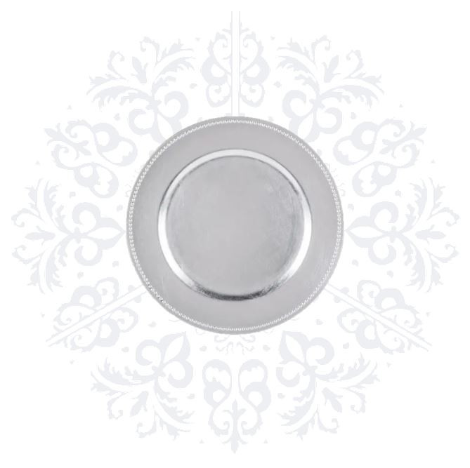 Silver Simple Charger Plate