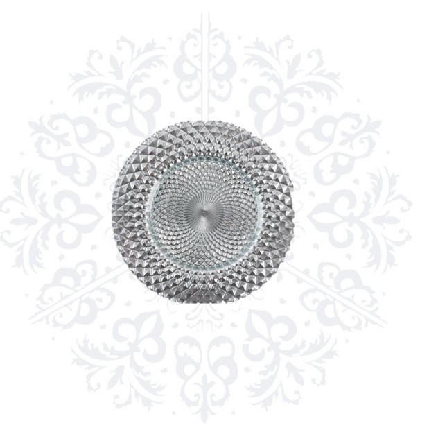 Silver Texture Charger Plate