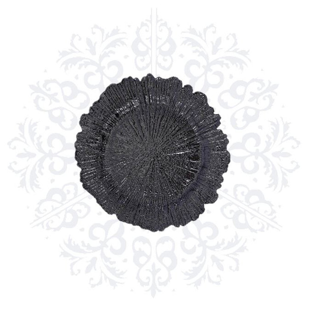 Black Coral Charger Plate