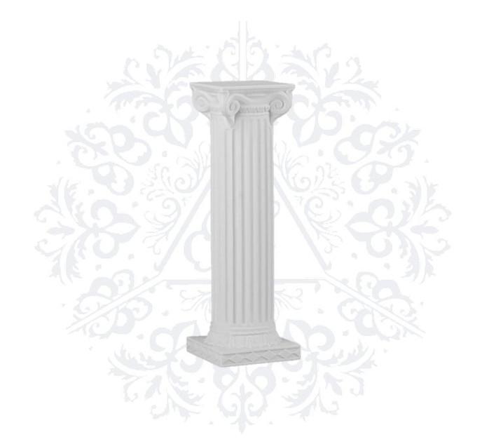 Resin Roman Pillars