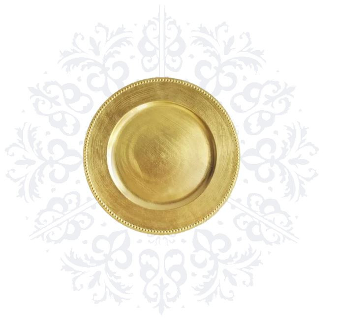 Gold Simple Charger Plate