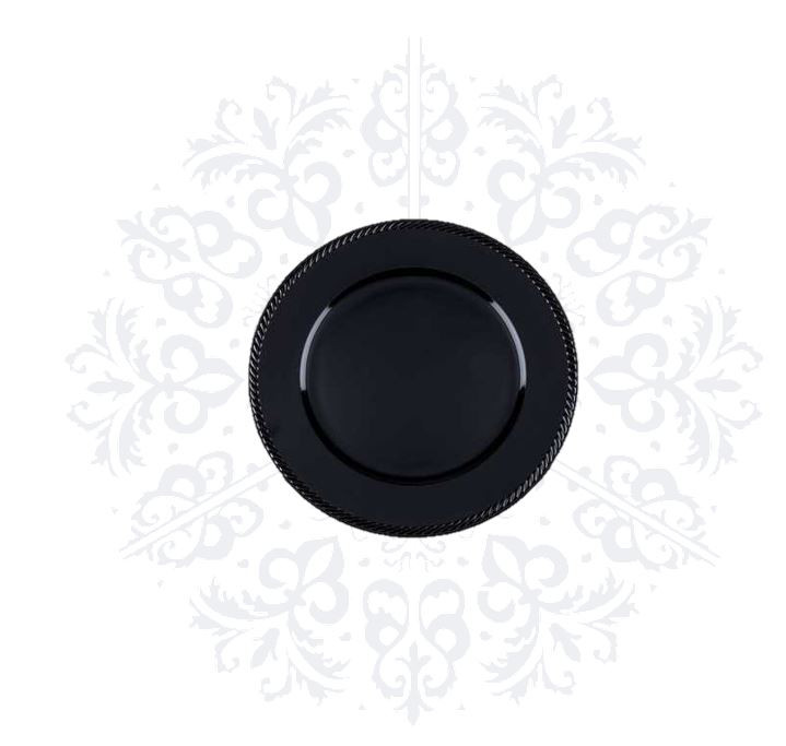 Black Simple Charger Plate