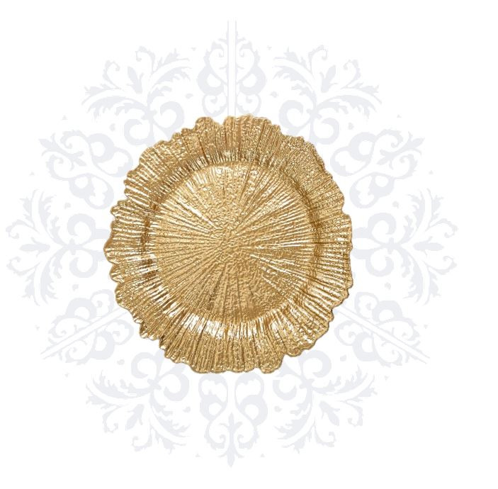 Gold Coral Charger Plate