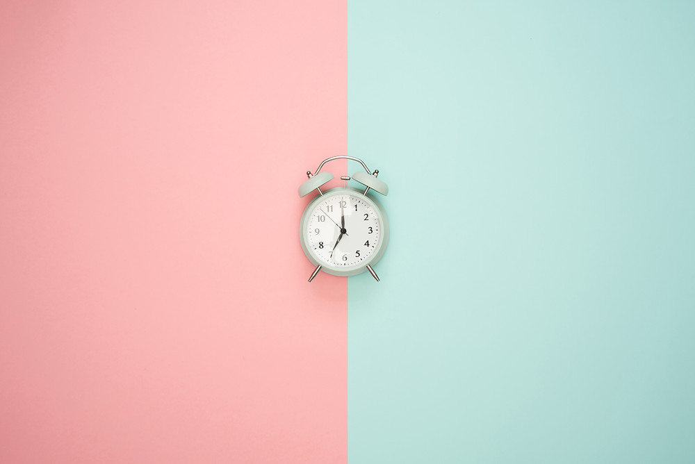 Clock on Colorful Wall
