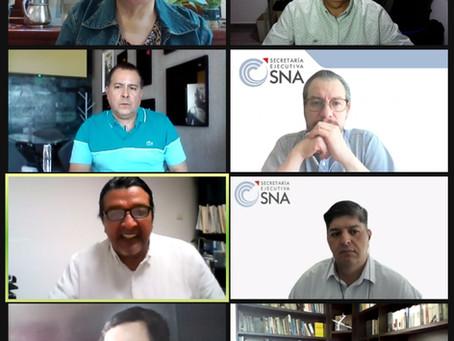 Reunión de seguimiento a los proyectos con la SESNA.