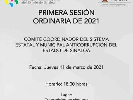 Primera Sesión Ordinaria de 2021 del Comité Coordinador