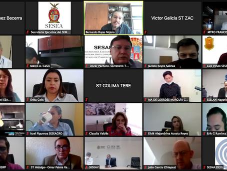Reunión informativa de la SESNA con Sistemas Locales Anticorrupción