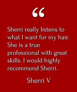 Sherri V Testimonial
