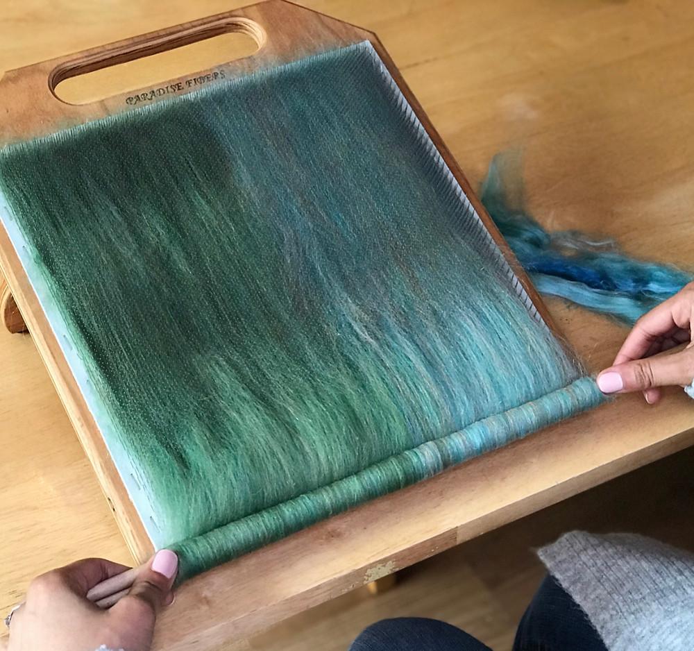 blending board fiber arts workshop handspinner