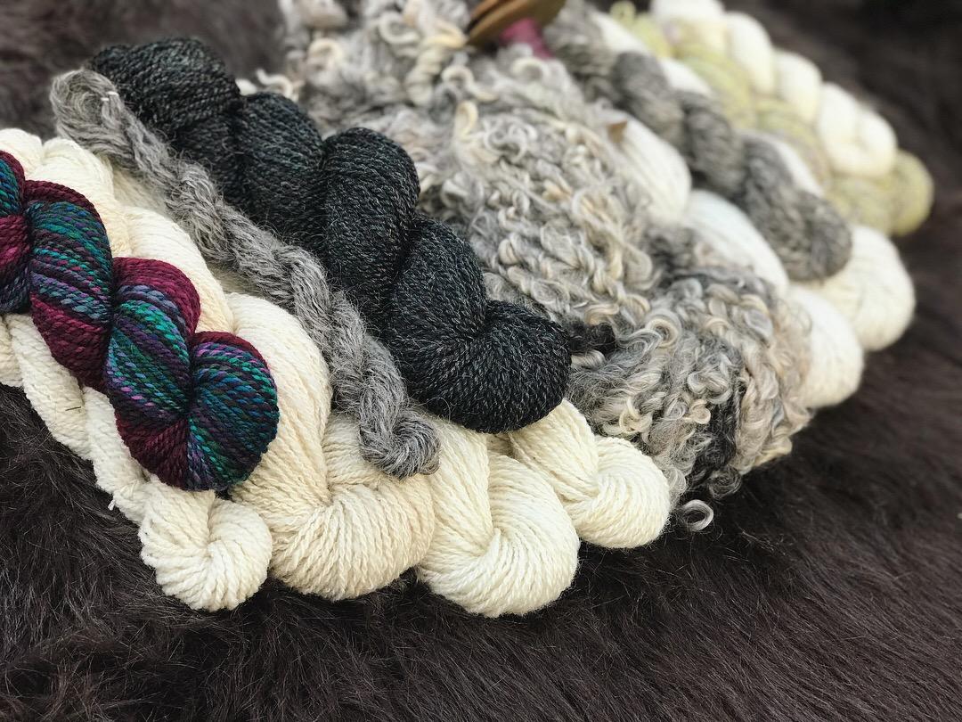 Tour de Fleece 2018 yarn