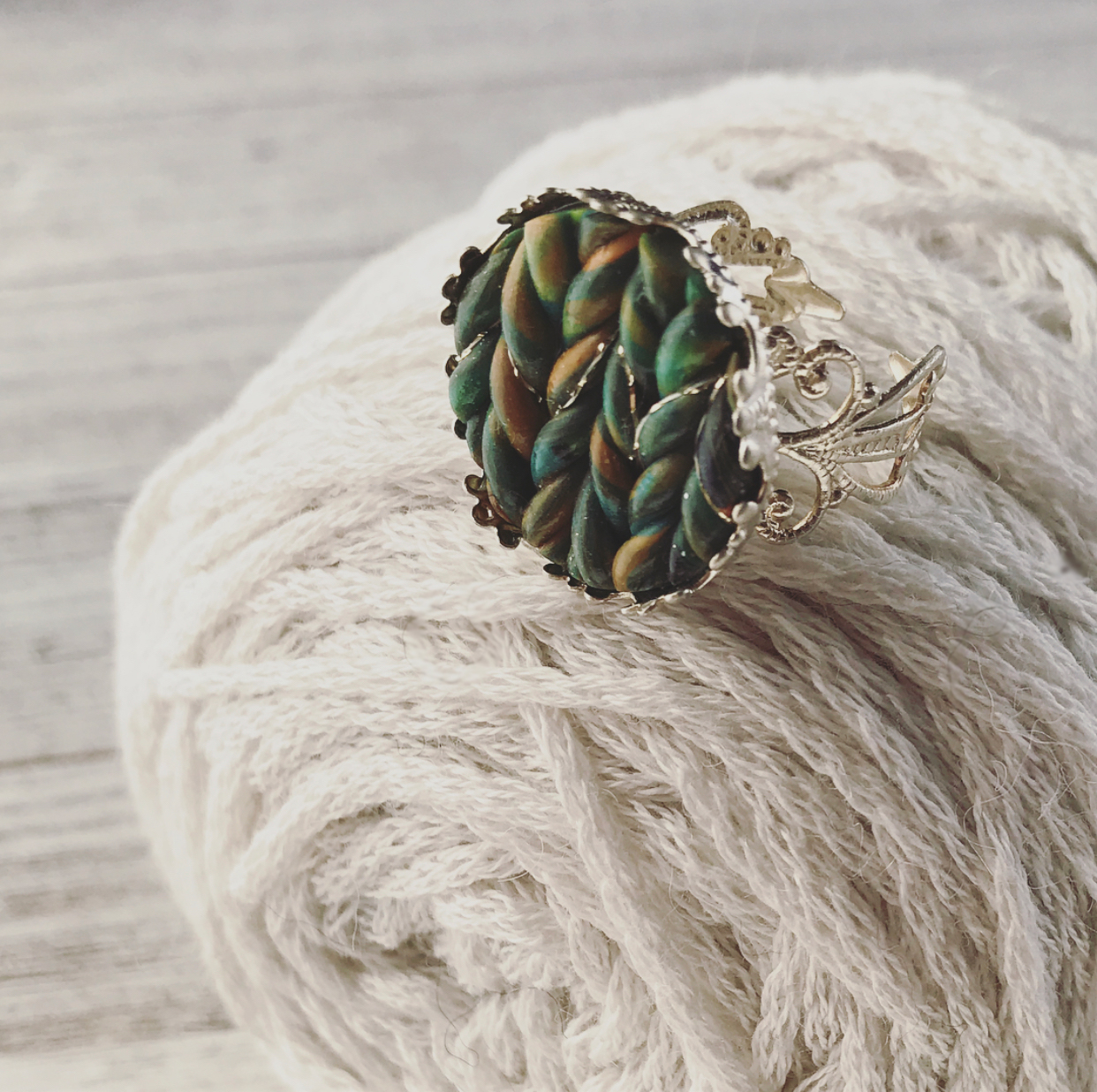New Handspun Knit Stitch Jewelry