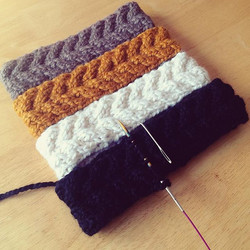 HK Cabled Ear Warmers