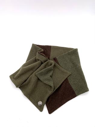 Green & Brown Cashmere Neck Wrap
