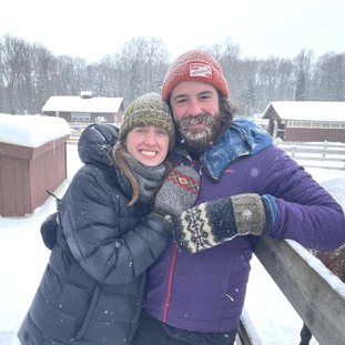 LucyBlue kept my hands toasty warm on my -14 degree walk around camp to my meeting thismorning! Olivia, WI