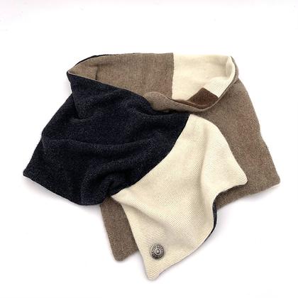 Black, tan & cream Cashmere Neck Wrap