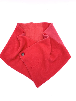 Pinky Red Cashmere Neck Wrap