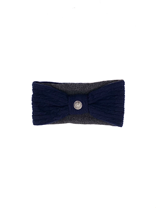 Navy Grey Cashmere