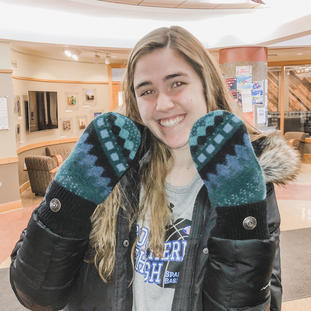 LucyBlues do a great job keeping college kids warm. Thanks for the pic Ellie!