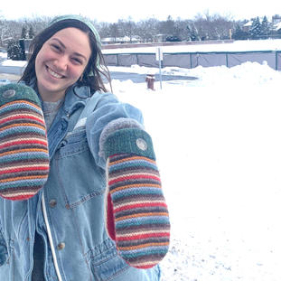 OMG! Got your mittens today. Just love them and its a good day to wear them outside to clean up the snow we will be getting. Sooooo Warm.Thank you girls so much for being so great to do business with! Cheryl, IL