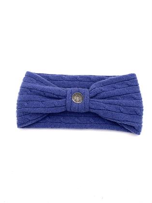 Medium Blue Cable Cashmere