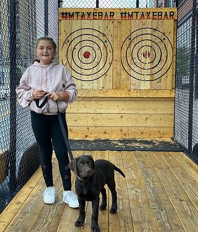 girl and dog with targets.jpg